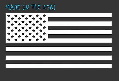 "6"" WHITE American Flag Vinyl Decal USA Freedom Car Truck Window Sticker"