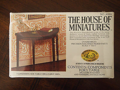 THE HOUSE OF Miniatures X ACTO Hepplewhite Side Table NIB NEW SEALED NO.  40004
