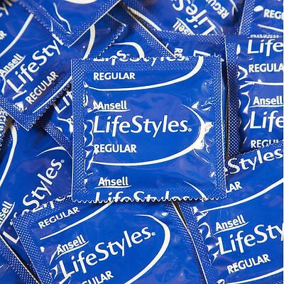 96 BULK PACK ANSELL LIFESTYLES REGULAR CONDOMS Easy Fit Smooth Condom FREE POST