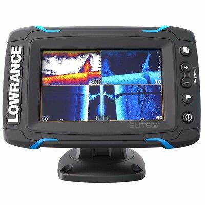 NEW Lowrance Elite-5 Ti Touch Combo Med/high/455/800 Hdi Transom 000-12421-001
