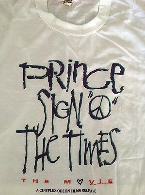 Prince Sign O The Times Movie Rare Promo Only T Shirt Cineplex 1987 Deadstock