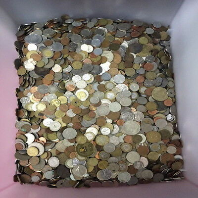 UNSEARCHED WORLD COIN POUND LB LOT! (1lb) Mixed Foreign Coin Lot by Weight