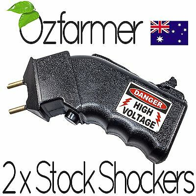 2 x Hand Prodder Battery Prod Cattle Dog Sheep Goats Dairy Beef Electric Shock