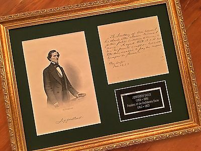 Confederate President JEFFERSON DAVIS * AUTOGRAPH Letter SIGNED * Sect'y of War