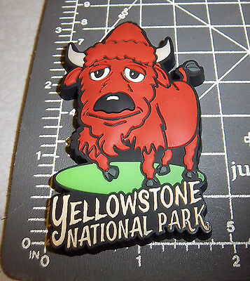 Yellowstone National Park Wyoming collectible Magnet Fun Bison! flexible plastic