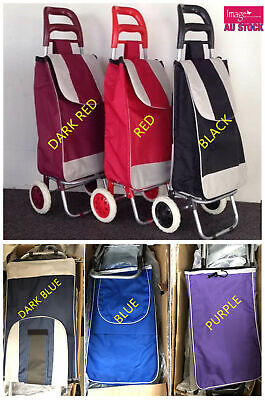 Shopping Trolley Cart Bag Foldable Wheels Carts Bags Market Luggage Basket YW