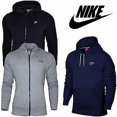 Nike Hommes Fermeture Éclair Gym Sweat A Capuche Veste Pull Pull-over