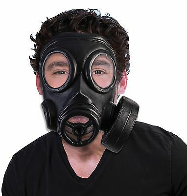 1940'S WW2 WWII Vintage Style Black Gas Mask Army Military Costume Accessory
