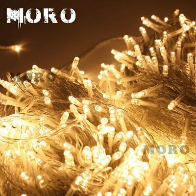 500 LED 100M Fairy String Light For Christmas Tree Holiday Wedding Garden Party