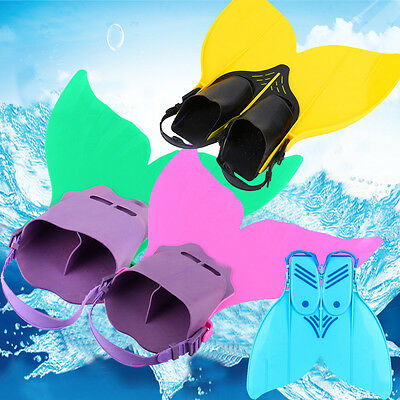 Probable Swimming Mermaid Tails Fin Monofin Fits Child/Youth Flippers UK Stock