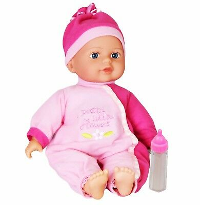 New Born Baby Doll With Soft Body Sounds & Feeding Cup Girls Gift Toy