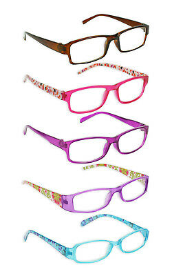 Reading Glasses Ladies Trendy Designer 6 Strengths Various Colours Fashion