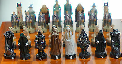 Large Lord of the Rings Chess Set Wooden Case and Board