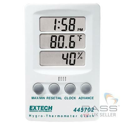 *NEW* Extech 445702 Hygro Thermometer Clock - Triple Display, Celsius/Fahrenheit