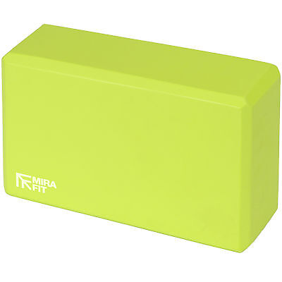 MIRAFIT Green Foam Exercise Yoga Block Fitness/Stretching Aid Brick Gym/Pilates