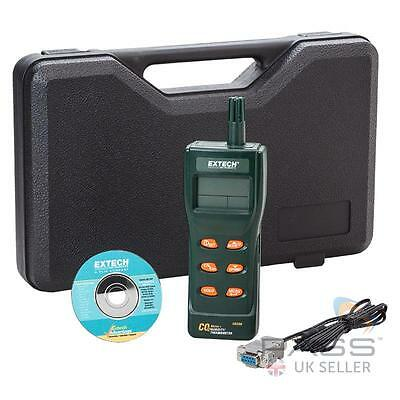 NEW Extech CO250 Portable Indoor Air Quality CO2 Meter + Software, Case, Cable