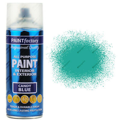 1 x 400ml All Purpose Candy Blue Aerosol Spray Paint Household Car Plastic