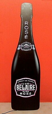 New ~ Huge 3' Foot Luc Belaire Rare Rose Champagne Animated Glowing Bottle Sign