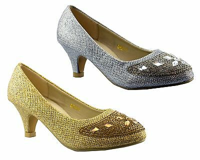 Infant Girls Courts Shoes Wedding Bridesmaid Evening Sparkly Party Size