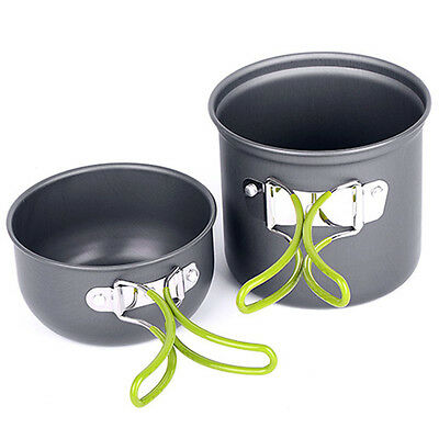 Non-stick Pot Pans Bowls Camping Hiking Cooking Set Cookware Outdoor Accessories