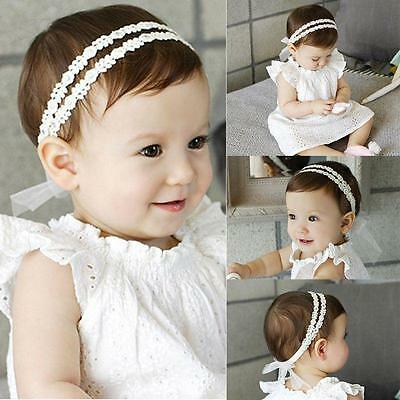 Baby Newborn Infant Pearl Floral Headband Party Hairband Headwear Headwear