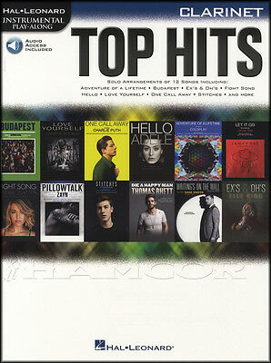 Top Hits Instrumental Play-Along Clarinet Sheet Music Book with Audio Adele