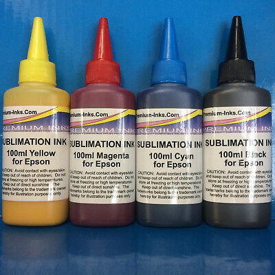 400ml Dye SUBLIMATION Ink for Epson 4 Colour Printers Quality Guaranteed Non OEM