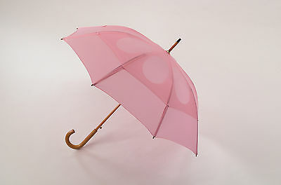 "GustBuster Classic 48"" Dual Canopy Windproof Umbrella Pink"