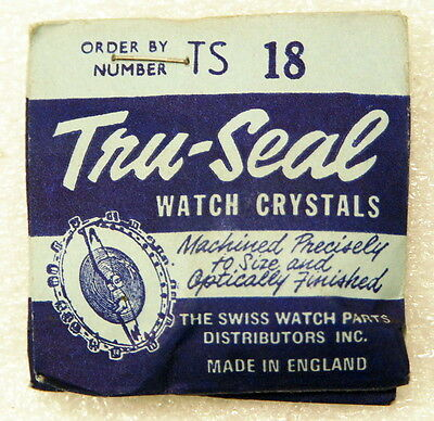 Tru-Seal  TS 18 Replacement Watch Crystal 24.1mm NOS