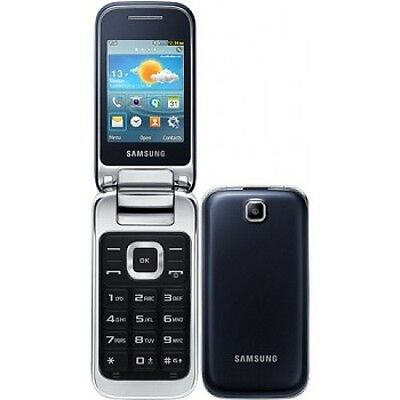 Samsung GT-C3590 Black Unlocked Big Buttons Stylish Flip Mobile Phone Grade A