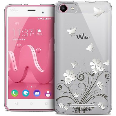 Coque Crystal Gel Wiko Jerry Extra Fine Souple Summer Papillons