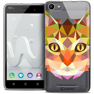 Coque Housse Etui Wiko Jerry Polygon Animal Souple Fin Chat