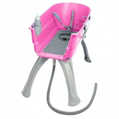 Booster Bath Large Pet Dog Grooming Washing Tub Groomer Wash Elevated PINK NEW
