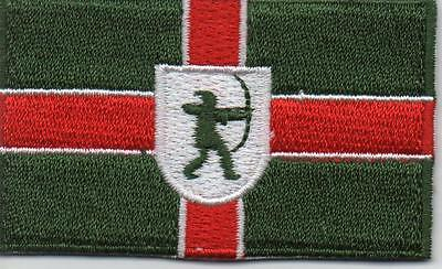Embroidered NOTTINGHAMSHIRE County Flag Iron on Sew on Patch Badge HIGH QUALITY