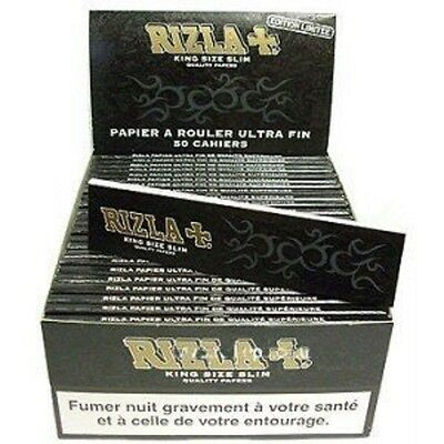 5 booklets RIZLA BLACK KING SIZE SLIM ROLLING PAPERS