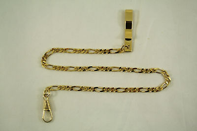 1  Pocket Watch Chains Stainless Clasp  Ring Clip New