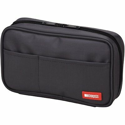 Lihit Lab Teffa Pen Case - Book Style - Black (japan import) [Office Product]