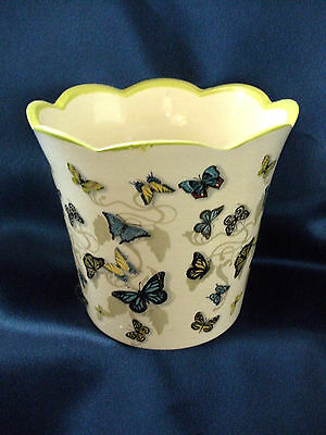 Flower Pot Plant Planting Butterflies Butterfly Vase