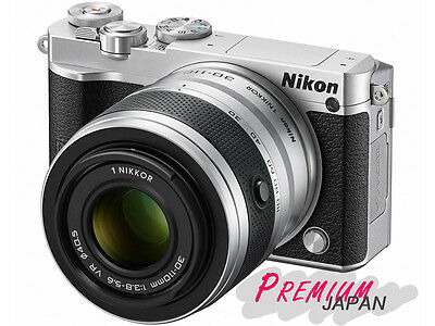 Nikon 1 J5 Silver Digital Camera VR10-30+30-110mm Double Zoom Lens Kit Japan New