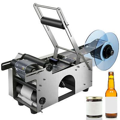 MT-50 Semi-Automatic Round Bottle Labeling Machine Labeler Scrolling Portable