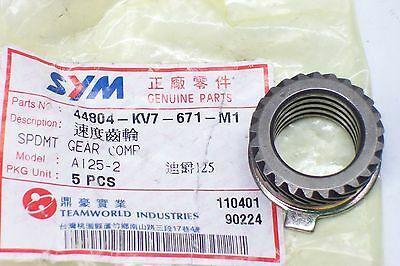 SYM Speedometer pinion new for Fiddle 50 ET: 44804-KV7-671-M1