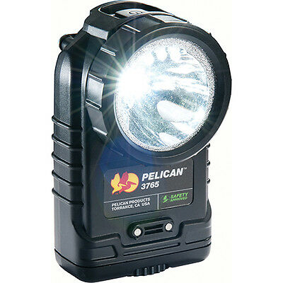 Pelican 3765 Rechargeable LED Flashlight with Charger (Black)