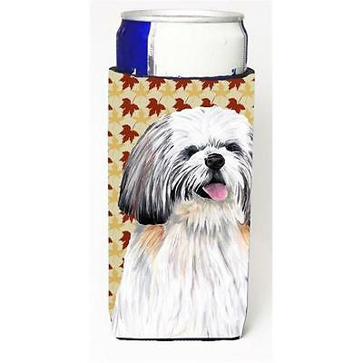 Shih Tzu Fall Leaves Portrait Michelob Ultra bottle sleeves For Slim Cans 12 oz.
