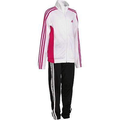 Girls Adidas tracksuit age 7-8 pink and white Decadia Tracksuit Gymnastics