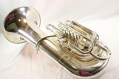 Jupiter XO Model 1284S 5 Valve CC Tuba DISPLAY MODEL PERFECT SILVER PLATE QuinnT