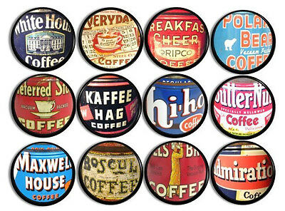 Vintage Coffee Can Kitchen Knob, Rustic Country Farmhouse Drawer Pull, Label