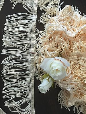 PEACH LOOPED 7cm (w) FRINGING/TASSEL~CURTAIN~SEWING~CRAFTS~COSTUMES~LAMPSHADE