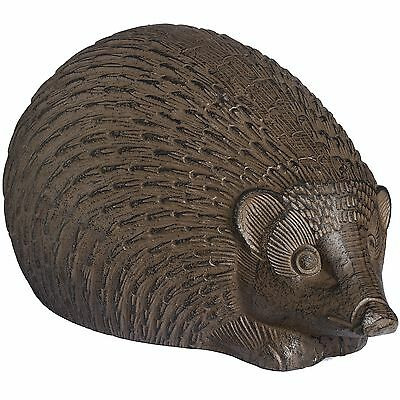 Hill Interiors Rustic Brown Large Hedgehog Cast Iron Ornament