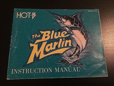 The Blue Marlin  (Manual Only) Nintendo Nes [No Game]