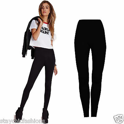 Ladies Womens New Fit Leggings Full Length Stretchy Cotton Jeggings Size 8-14
